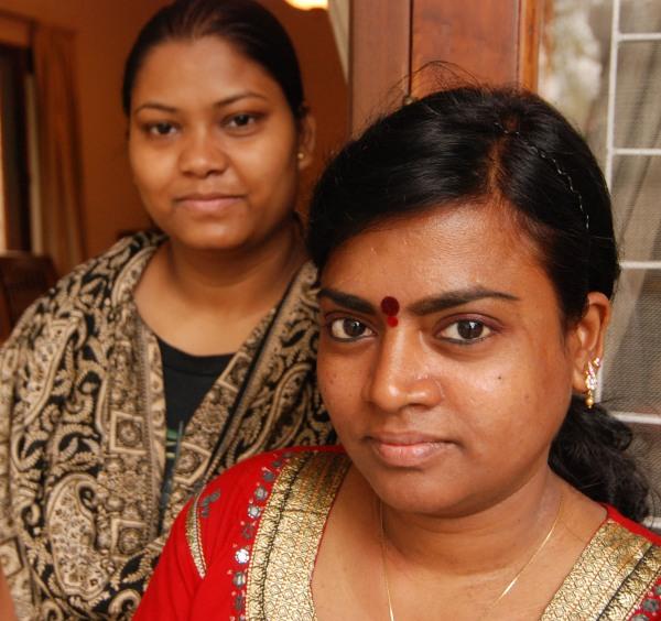 Filomena con la sua amica Vandala