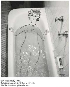 girl-in-bathtub-saul-steinberg